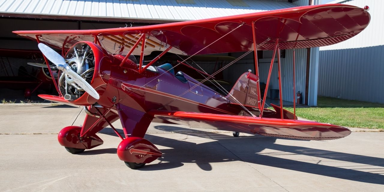 Restored vintage 1930 waco qcf fixed wing single engine for Aircraft motors for sale
