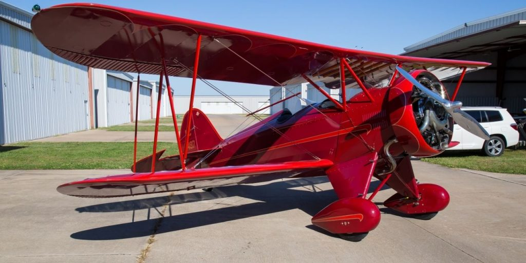 Restored vintage 1930 Waco QCF Fixed Wing Single Engine aircraft