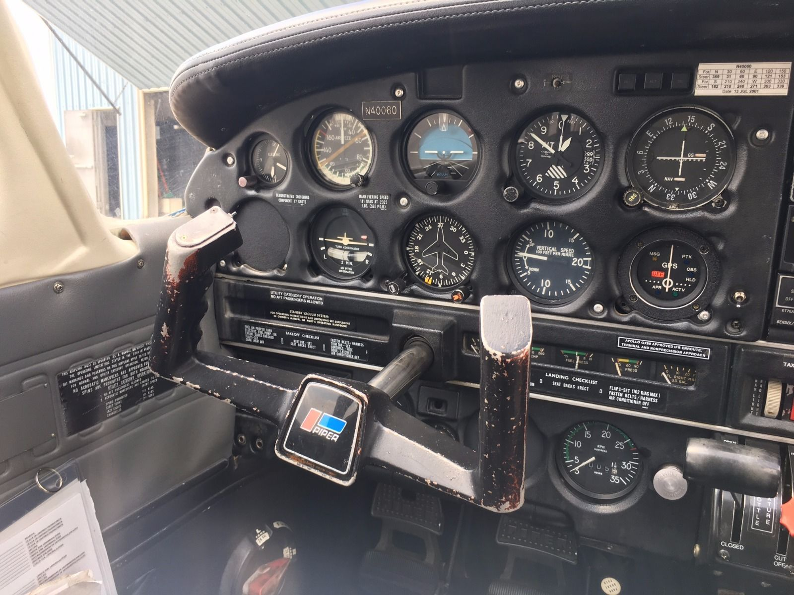 Recently serviced 1977 Piper PA-28-161 aircraft