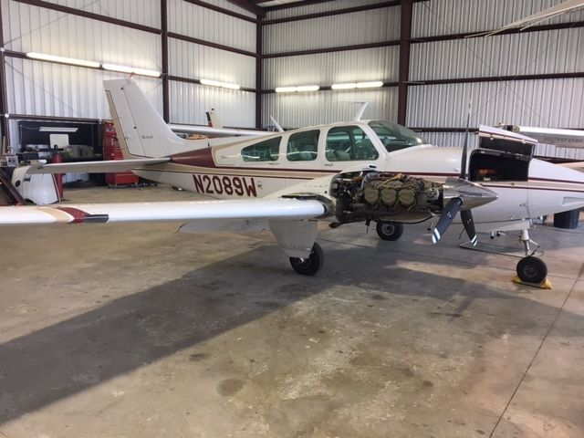 Rebuilt engines 1966 beechcraft baron c55 aircraft for sale for Aircraft motors for sale
