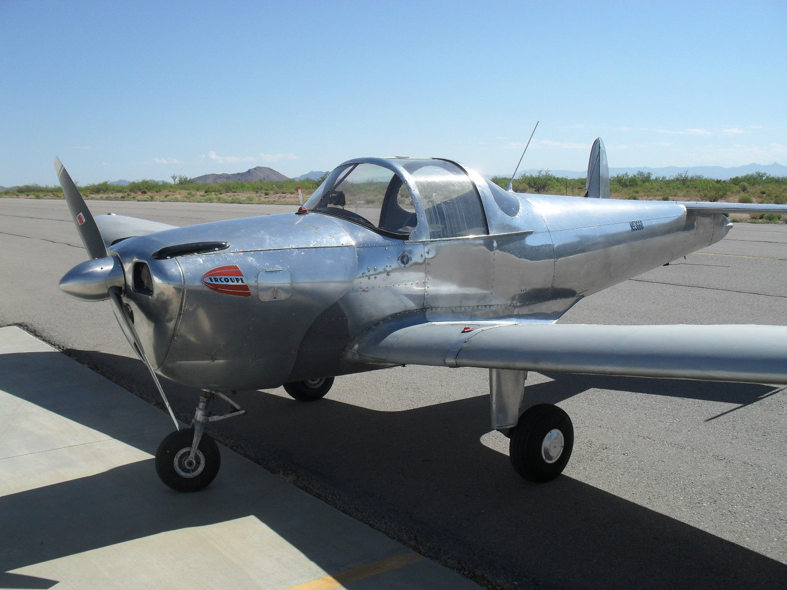 Rust free frame 1946 Ercoupe 415C aircraft