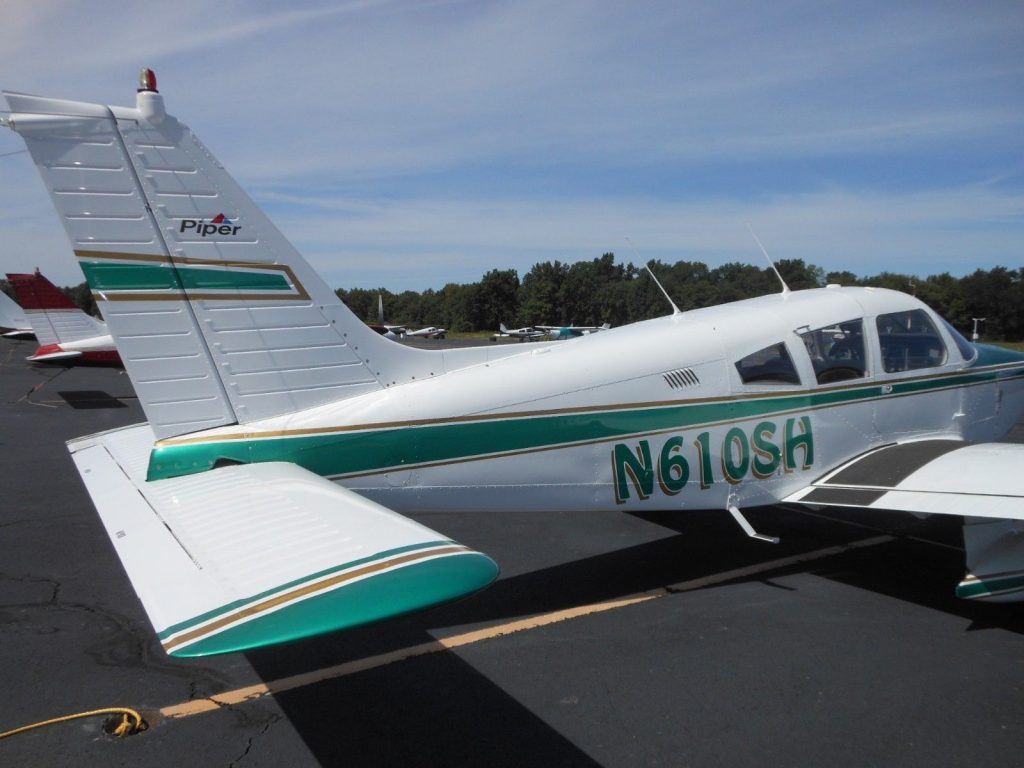 one of a kind 1973 Piper Cherokee aircraft