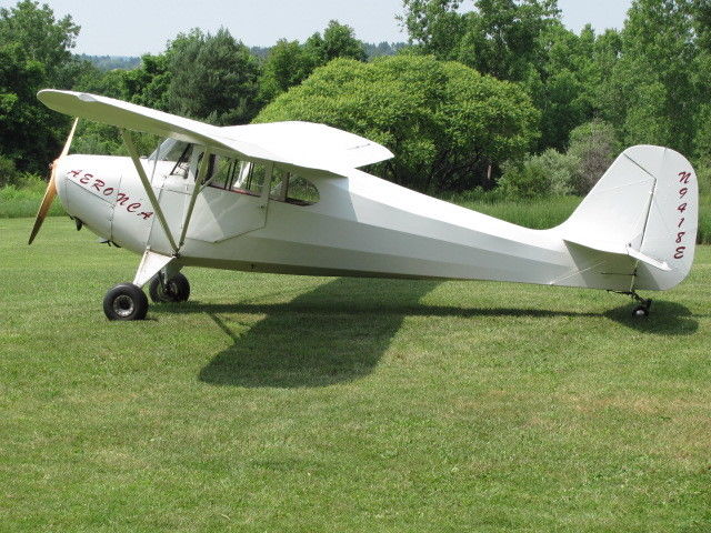 recovered body 1946 Aeronca 11AC Chief aircraft