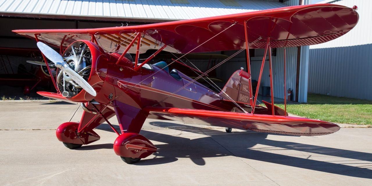 vintage 1930 WACO QCF Fixed Wing Single Engine Biplane