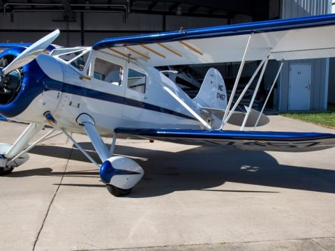 vintage 1937 WACO YKS 7 Fixed Wing Single Engine Biplane aircraft for sale
