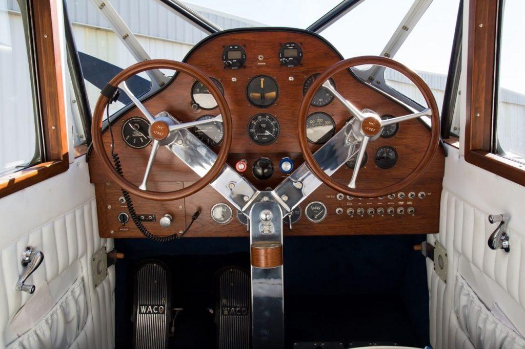vintage 1937 WACO YKS 7 Fixed Wing Single Engine Biplane aircraft