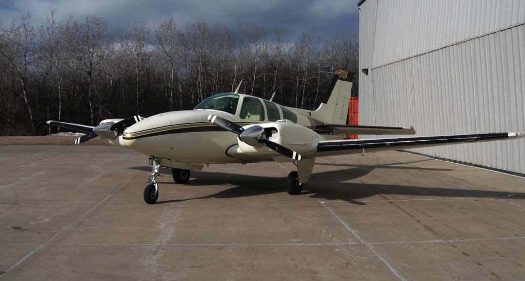 beautiful 1970 Beechcraft E55 Baron aircraft