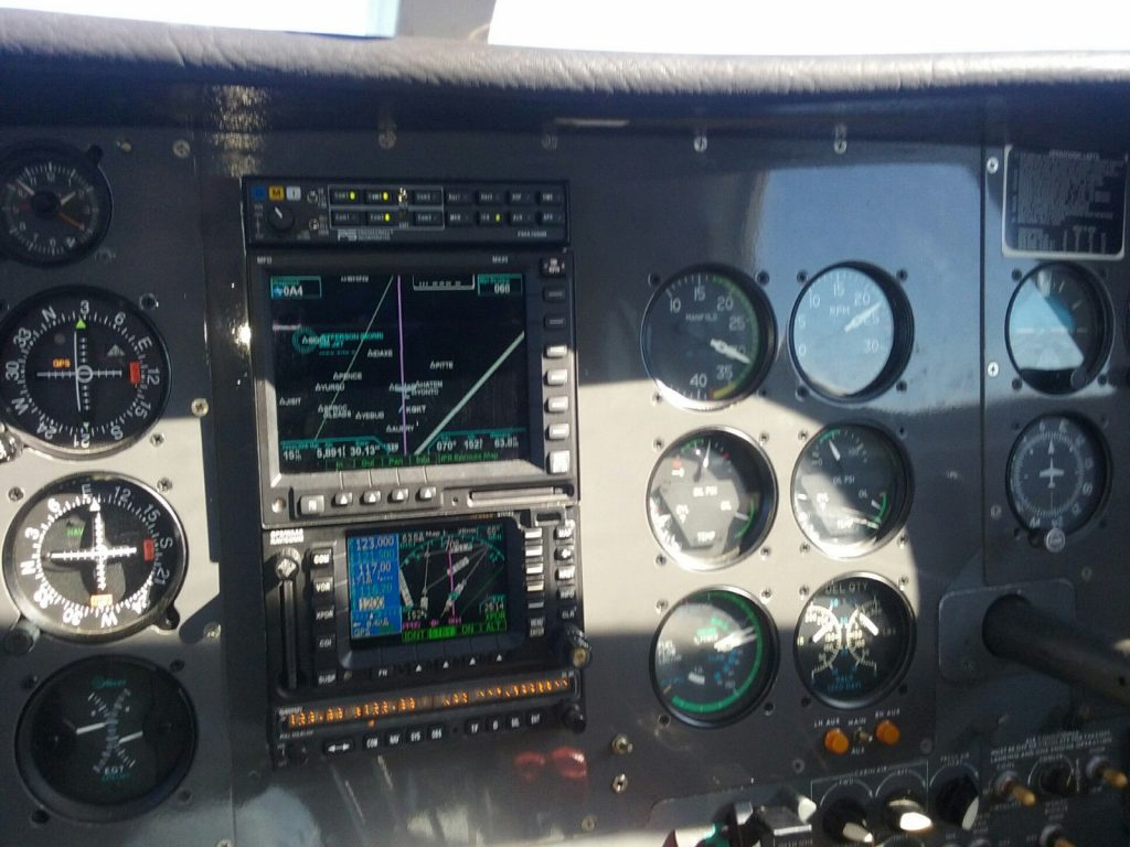 loaded 1972 Cessna 340 aircraft