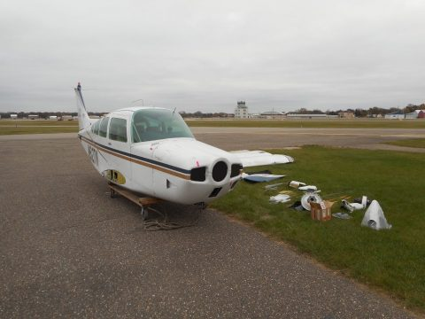 minor damage 1974 Beech B 24R Sierra aircraft for sale