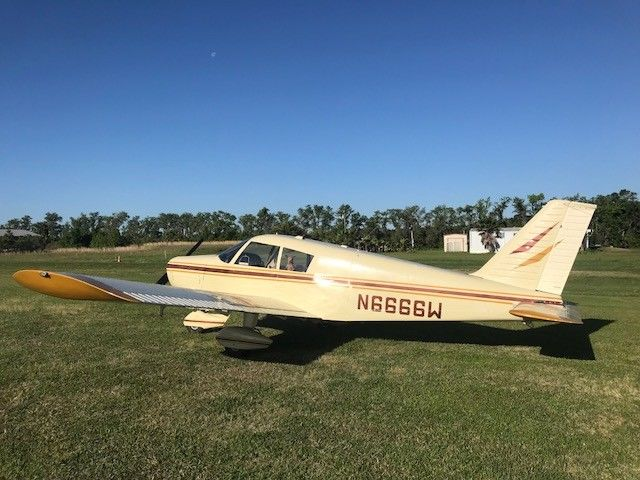 Clean 1965 Piper PA 28 Cherokee aircraft