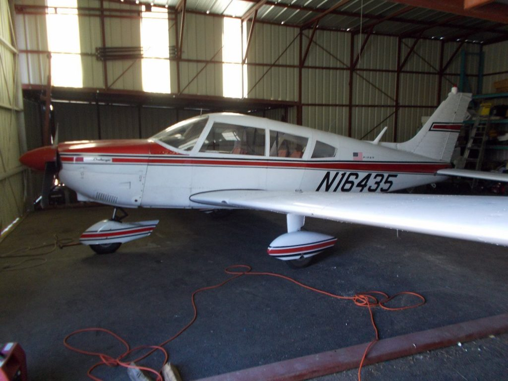 hangared 1973 Piper Challenger aircraft