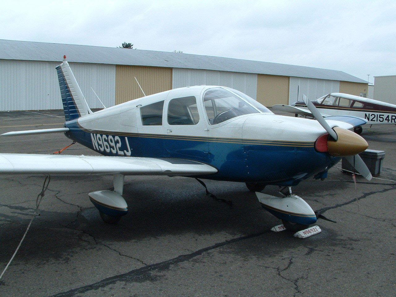 hangared 1967 Piper Cherokee 180 PA aircraft