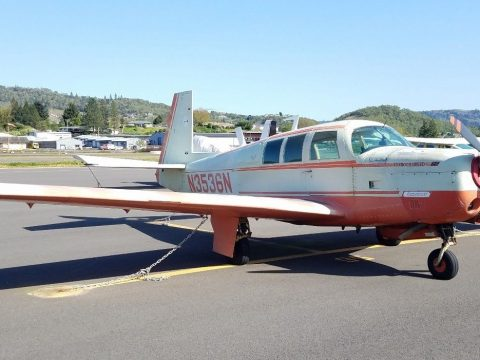 low hours 1968 Mooney M20F Executive 21 Turbo aircraft for sale
