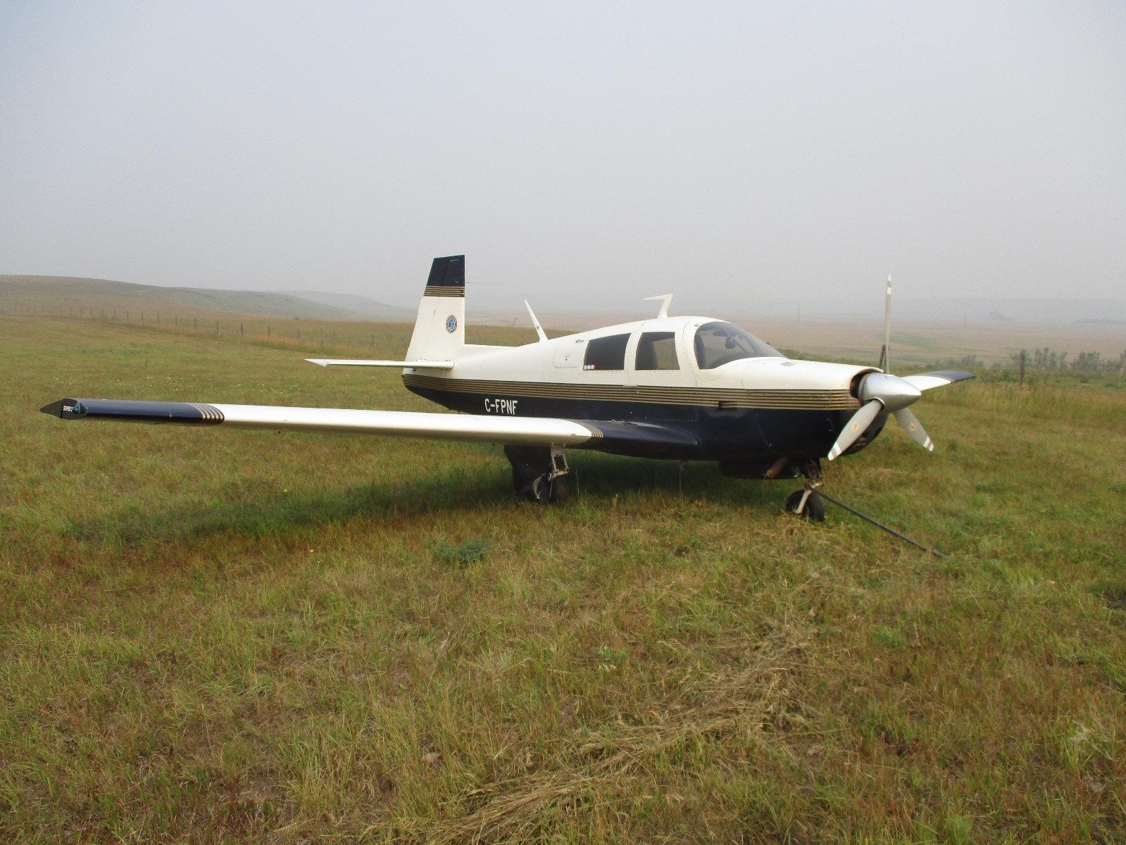 modified 1966 Mooney M20E aircraft