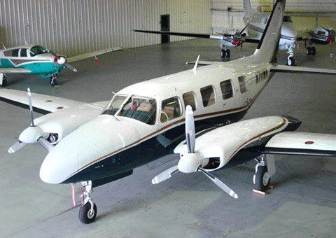 hangared 1976 Piper Navajo Chieftain Twin Aircraft for sale