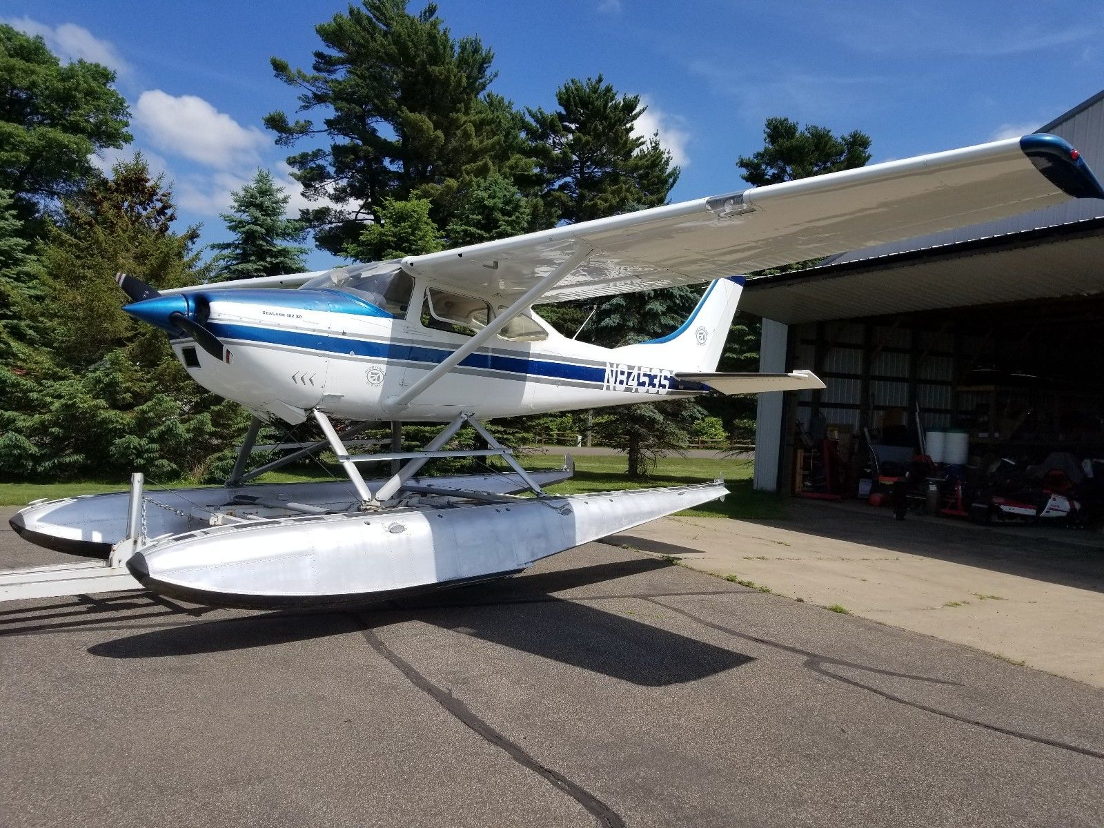 converted 1966 Cessna 182H Seaplane aircraft for sale