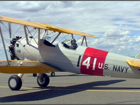 restored 1943 Boeing Stearman aircraft for sale