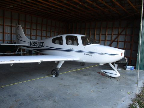 intact 2001 Cirrus Sr22 aircraft for sale