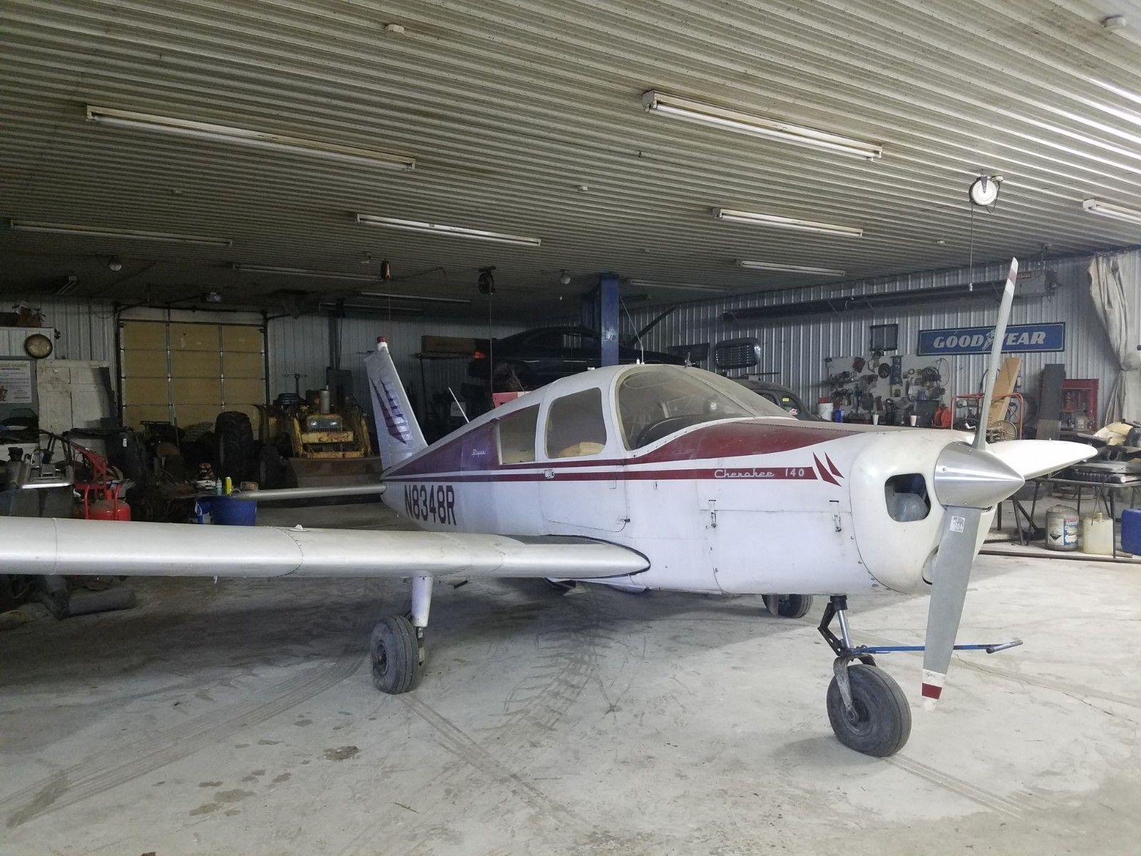 needs paint 1966 Piper Cherokee 140 aircraft