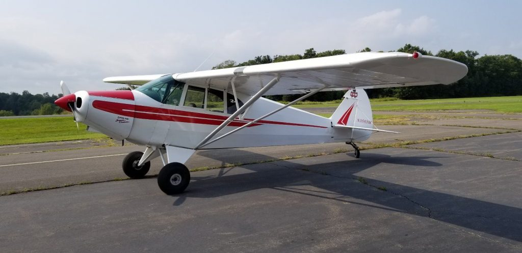 new paint 1947 Piper PA-12 SUPER CRUISER aircraft