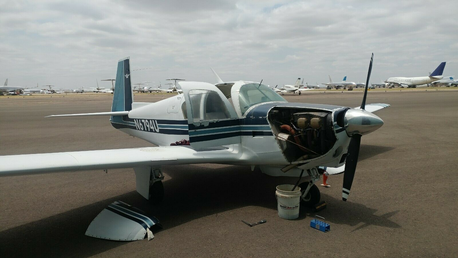 complete 1963 Mooney M20D Aircraft for sale