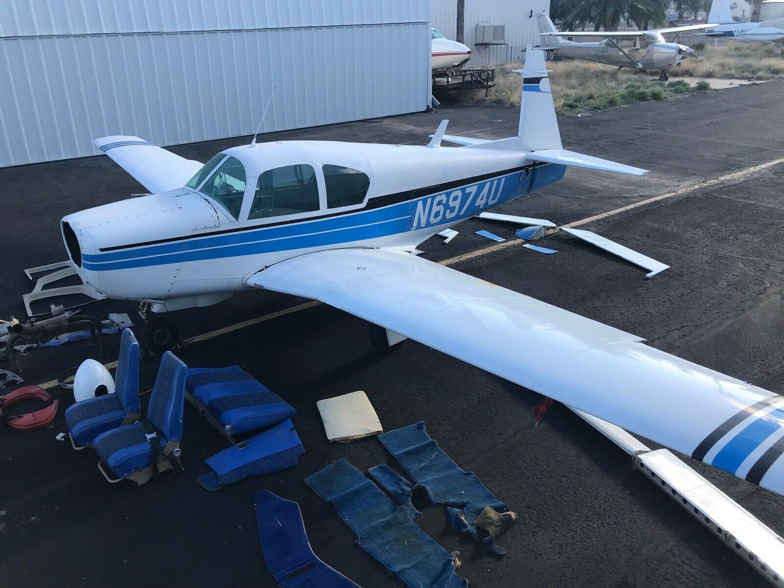 Undamaged 1964 Mooney M20E Project Aircraft for sale