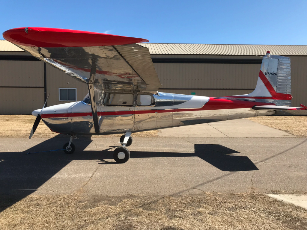 Classic 1957 Cessna 172 polished aircraft