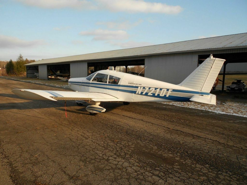 hangared 1968 Piper PA 28 140 Cherokee CRUISER aircraft