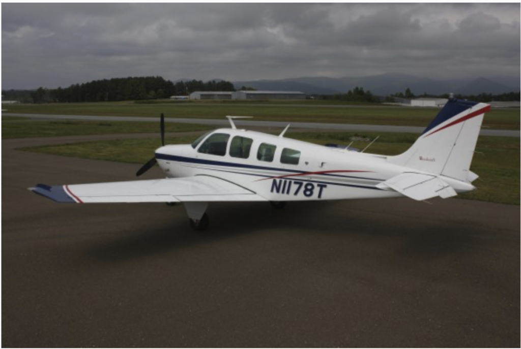 well maintained 1976 Beechcraft Bonanza aircraft