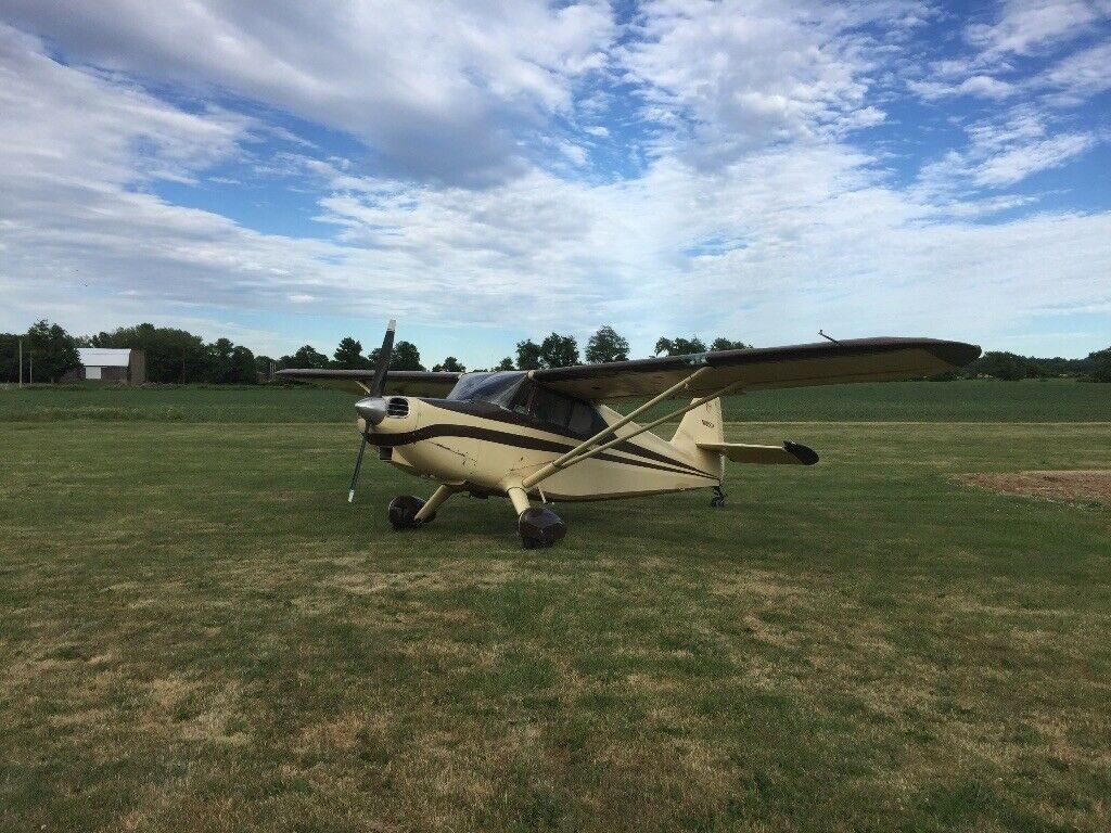 hangared 1947 Stinson 108 1 aircraft