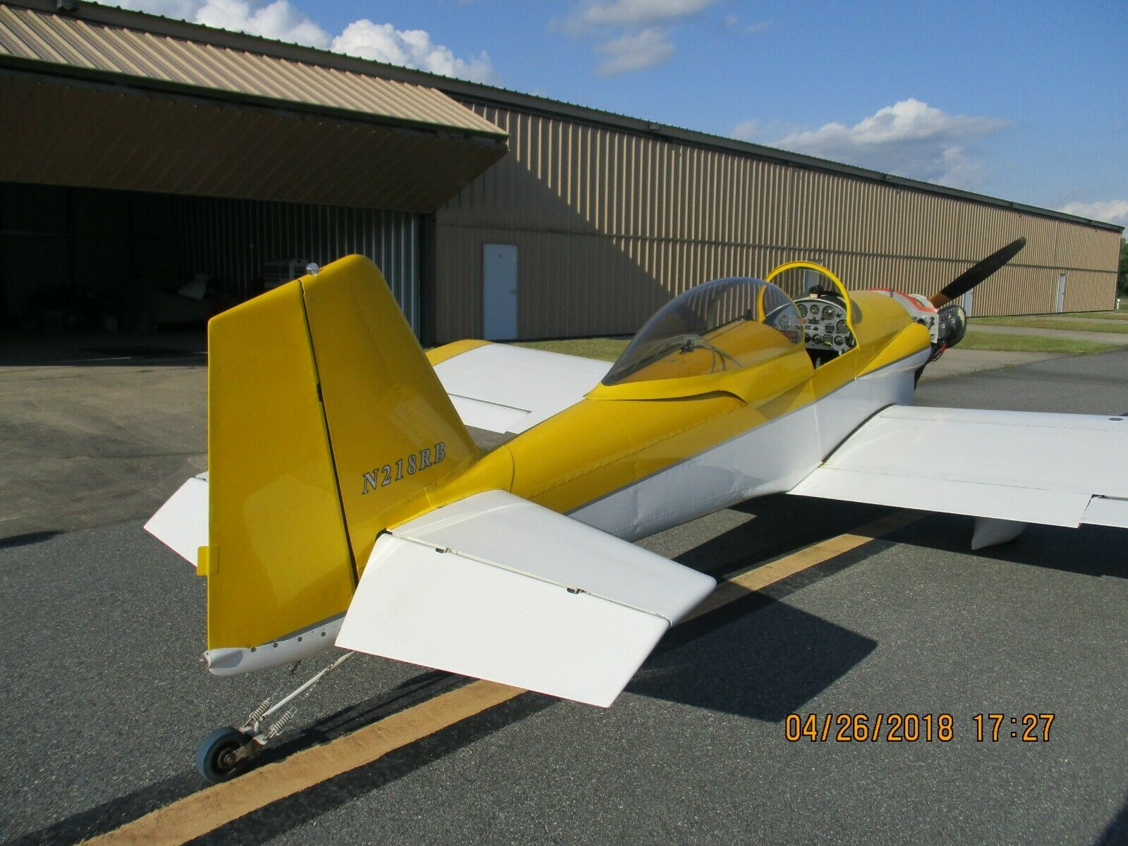 low time 1990 Vans RV 3 Aircraft