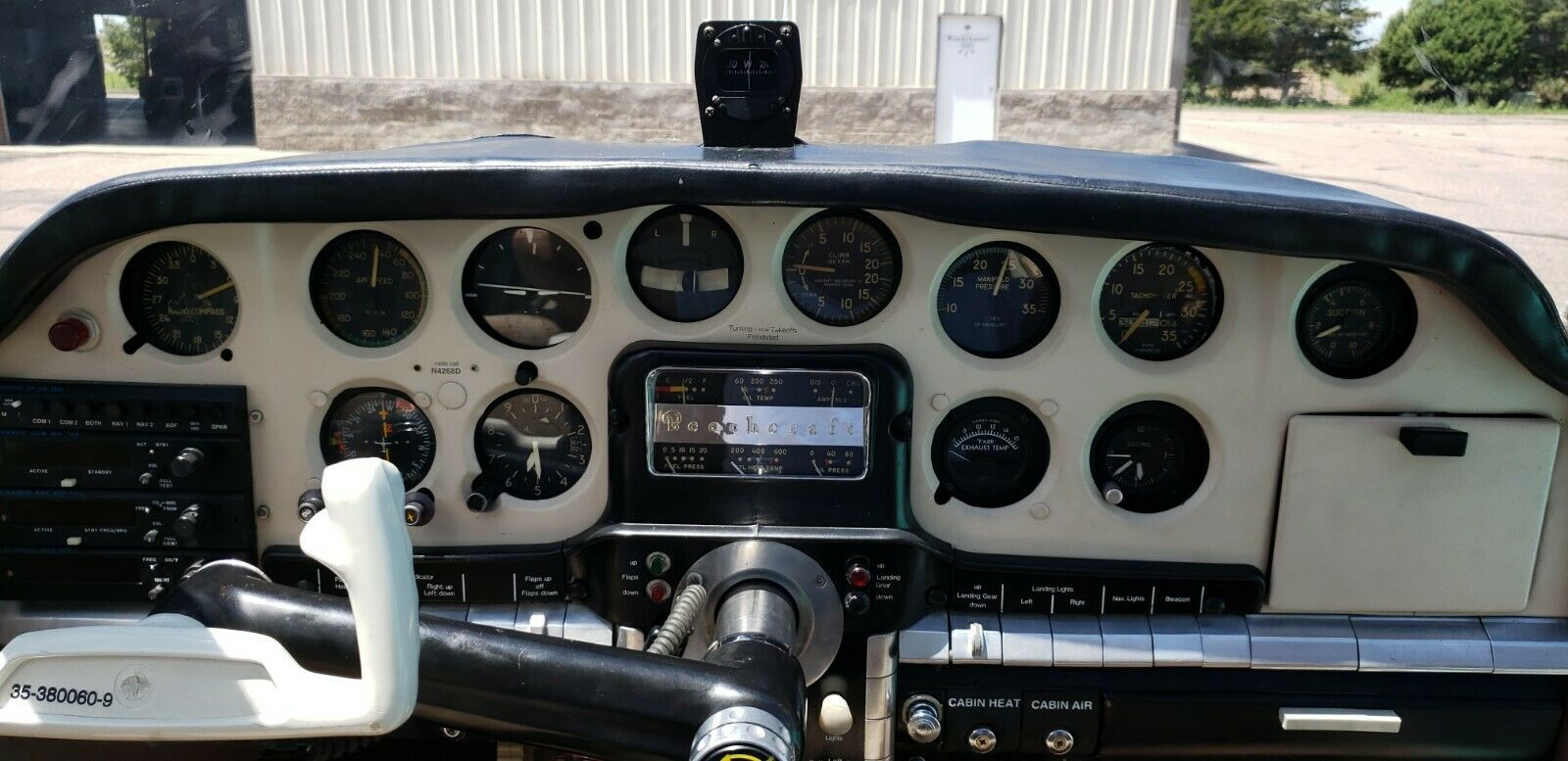 clean 1956 Beechcraft G35 Bonanza aircraft