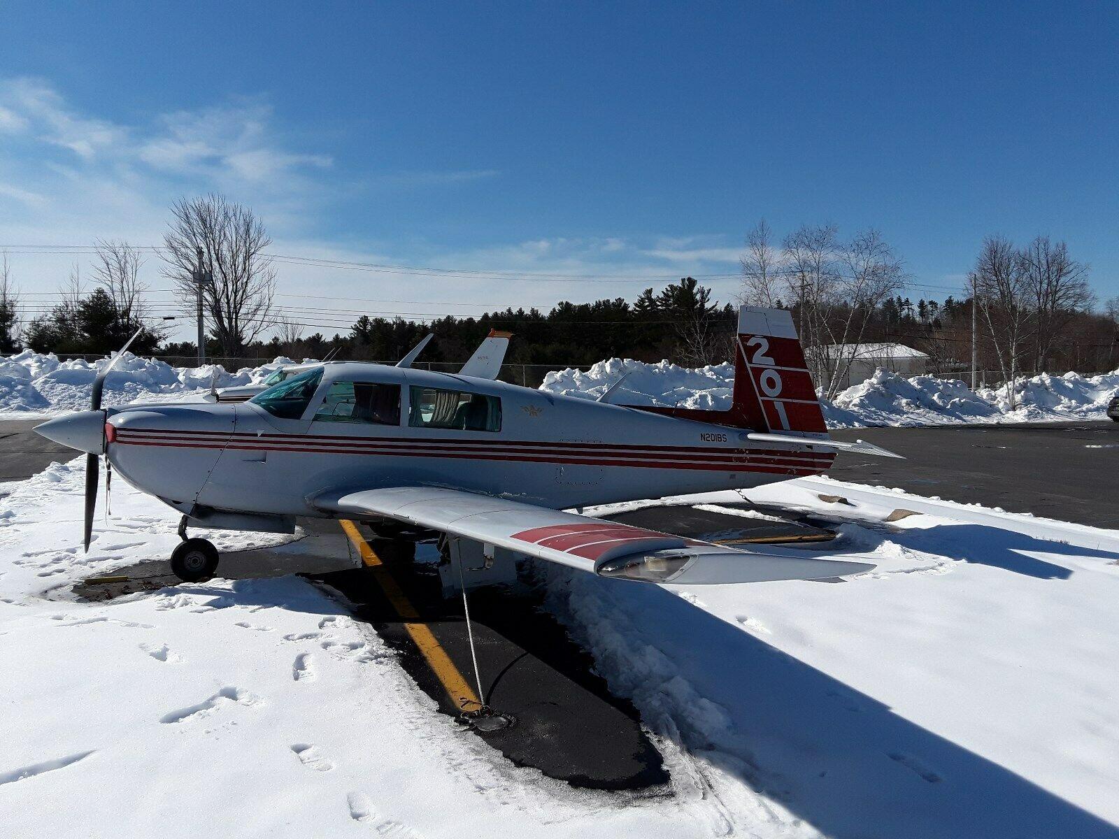 damaged 1982 Mooney M20J Aircraft for sale