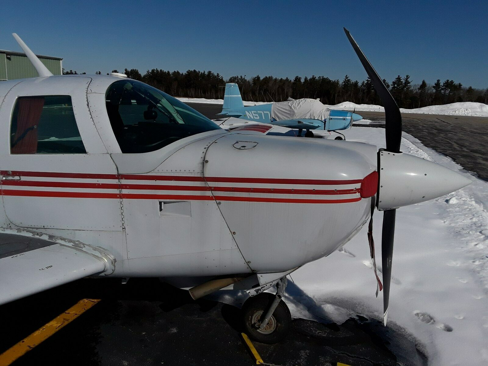 damaged 1982 Mooney M20J Aircraft