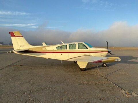 damaged 1980 Beech F33A Bonanza aircraft for sale