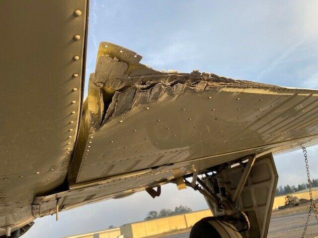 damaged 1980 Beech F33A Bonanza aircraft