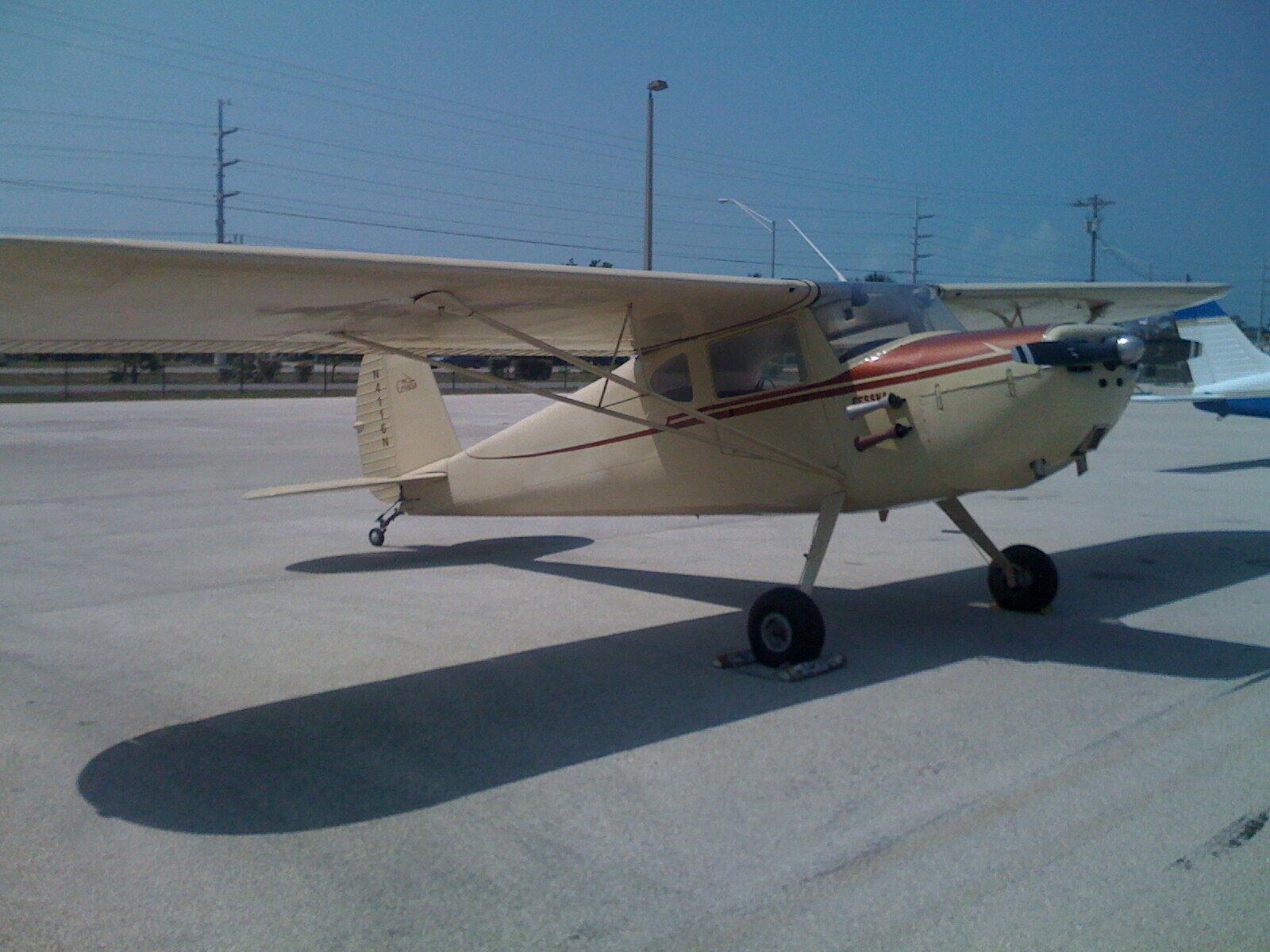 vintage 1947 Cessna 140 aircraft for sale