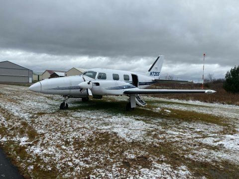 damaged 1973 Piper PA 31P Pressurized Navajo aircraft for sale