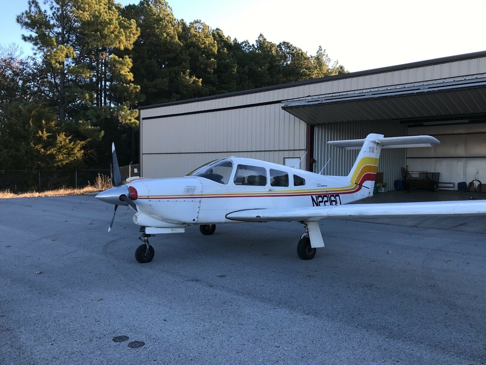 hangared and well maintained 1979 Piper Turbo Arrow aircraft
