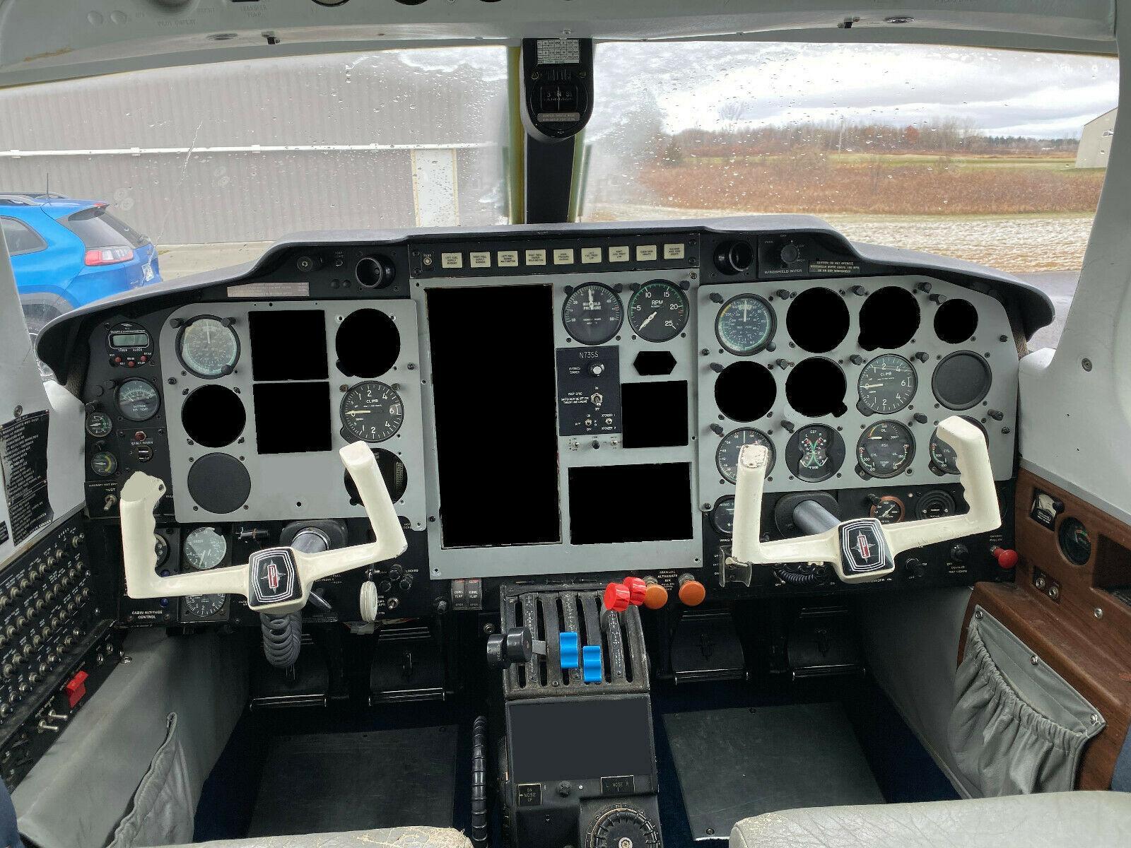 damaged 1973 Piper PA 31P Pressurized Navajo aircraft