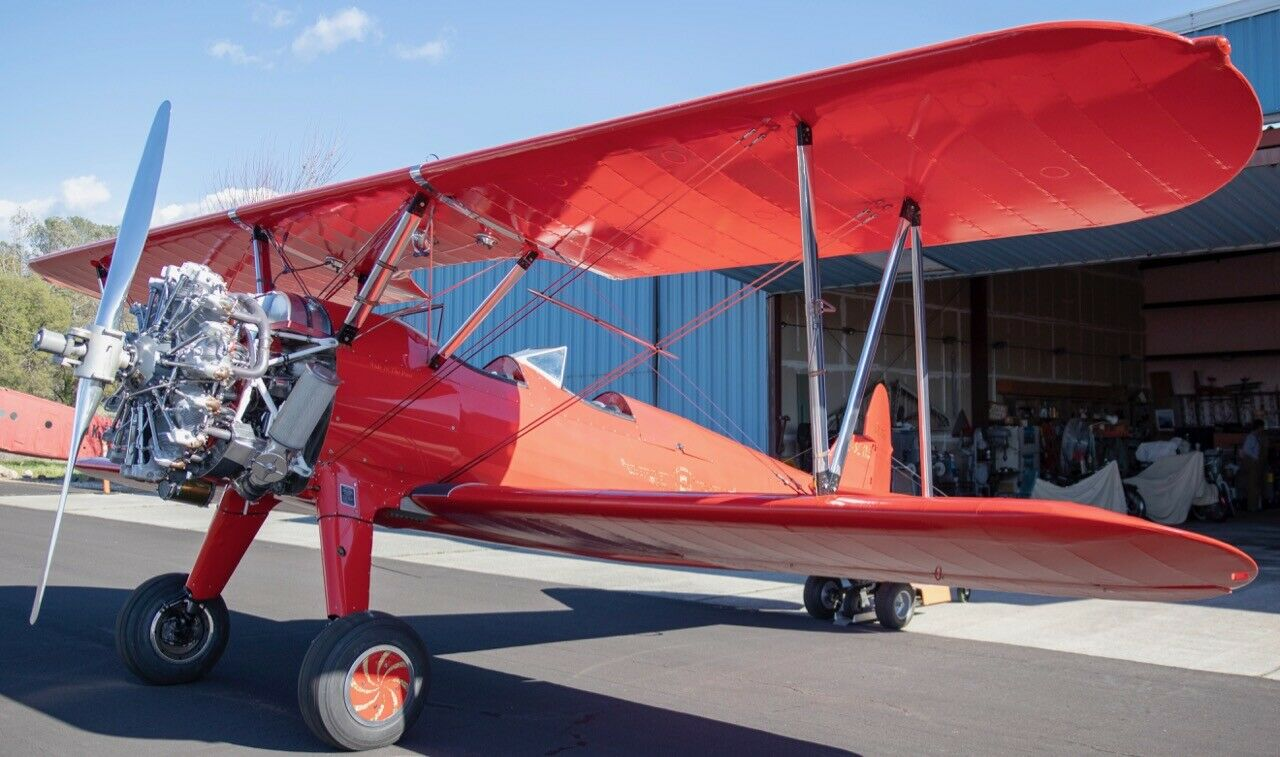 Vintage 1941 Stearman Biplane WWII Trainer aircraft for sale