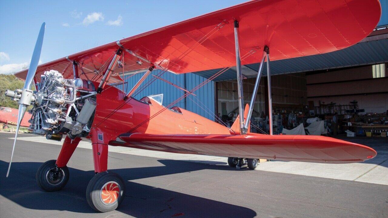 Vintage 1941 Stearman Biplane WWII Trainer aircraft
